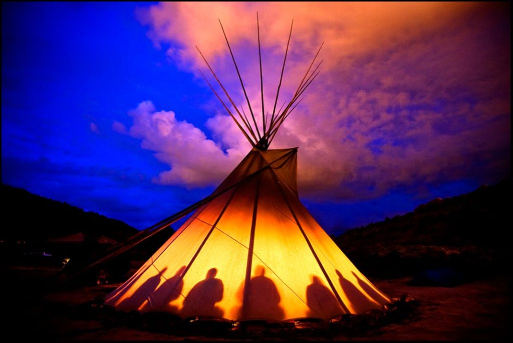 chimney evolution tipi