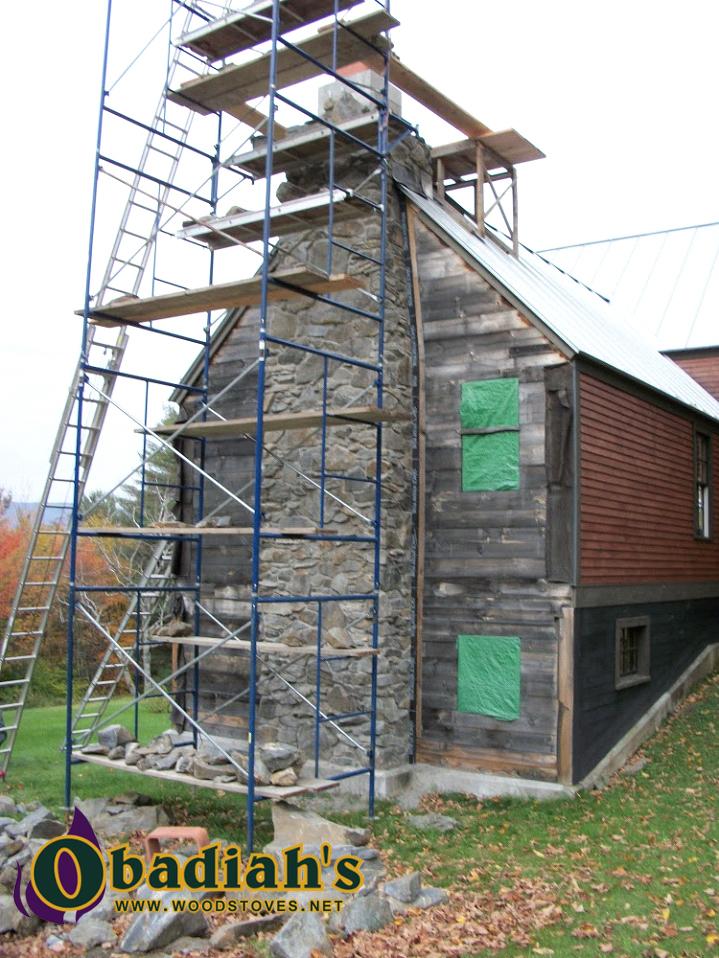 Outdoor Chimney Construction